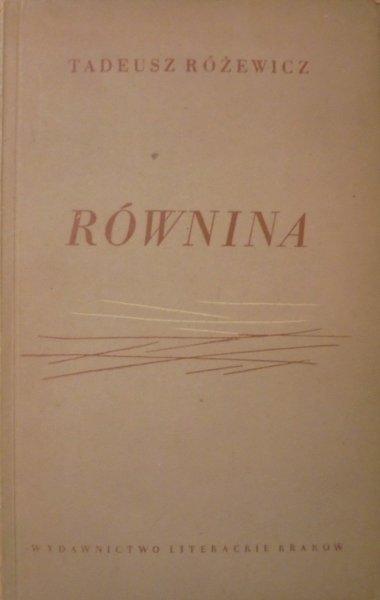 Tadeusz Różewicz • Równina [1954, wydanie 1.]