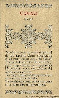 Elias Canetti • Myśli