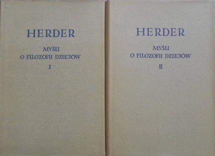 Herder • Myśli o filozofii dziejów komplet
