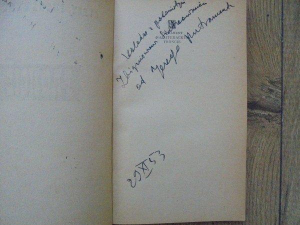 Jerzy Putrament • Na literackim froncie [dedykacja autora]