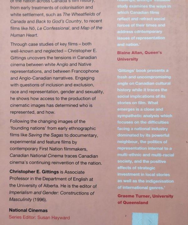 Christopher E. Gittings • Canadian National Cinema