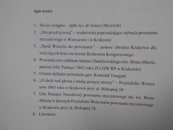 Jacek Albrecht • Weterani 1863 roku w stołeczno królewskim mieście Krakowie