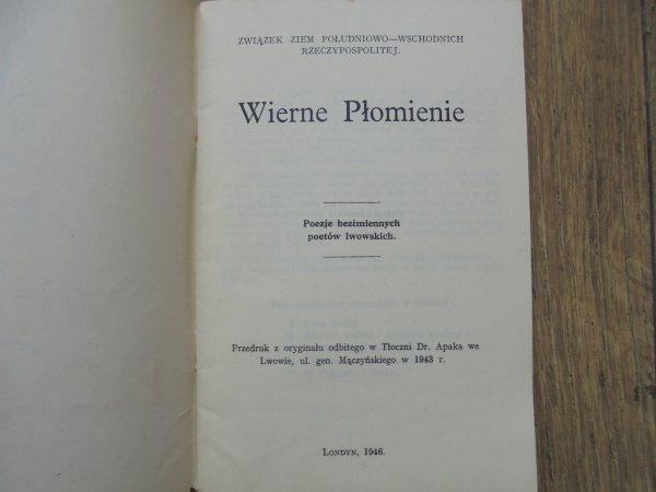 Wierne Płomienie • Poezje bezimiennych poetów lwowskich [1946] [Ewa Lubaczewska]