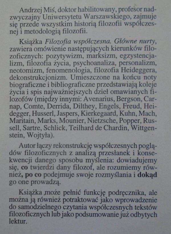 Andrzej Miś • Filozofia współczesna. Główne nurty