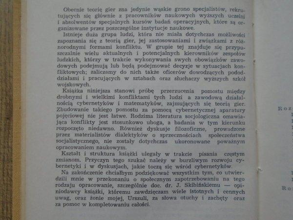 Narcyz Klatka • Konflikt i gra [teoria gier, cybernetyka]