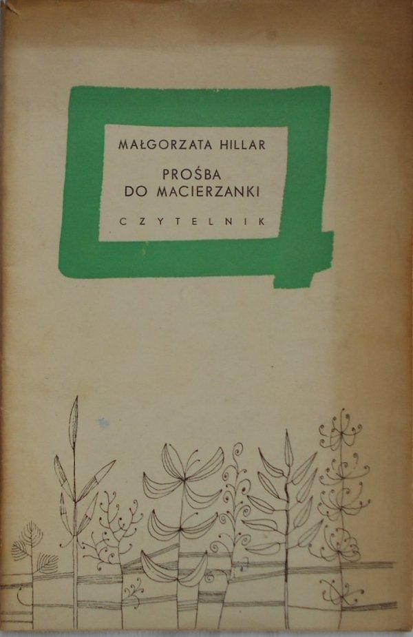 Małgorzata Hillar • Prośba do macierzanki
