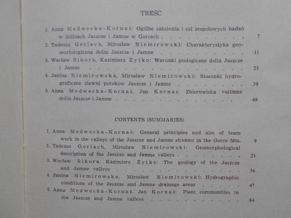 Doliny potoków Jaszcze i Jamne w Gorcach • Studium przyrody, zagospodarowania i ochrony terenów górskich