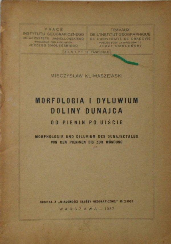 Mieczysław Klimaszewski • Morfologia i dyluwium doliny Dunajca. Od Pienin po ujście