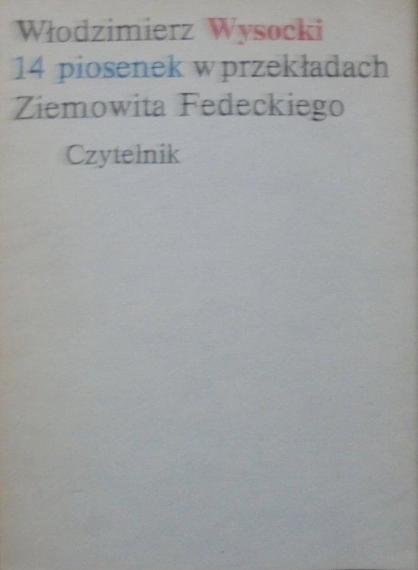 Włodzimierz Wysocki • 14 piosenek w przekładach Ziemowita Fedeckiego