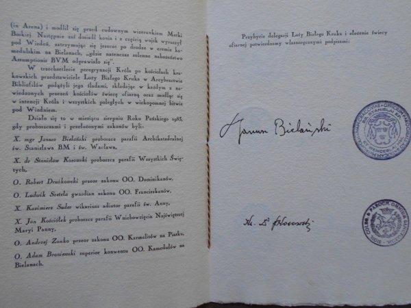 W trzechsetlecie peregrynacji króla Jana III Sobieskiego po kościołach Krakowa