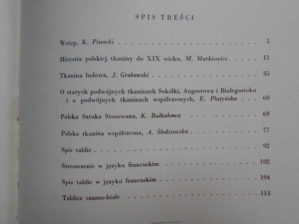 Prof. Ksawery Piwocki • Tkanina artystyczna