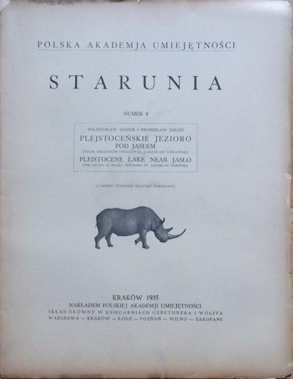 Władysław Szafer, Bronisław Jaroń • Plejstoceńskie jezioro pod Jasłem [Starunia numer 8]