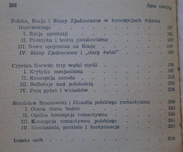 Andrzej Walicki • Między filozofią, religią i polityką [mesjanizm, Cieszkowski, Trentowski, Norwid, Brzozowski]