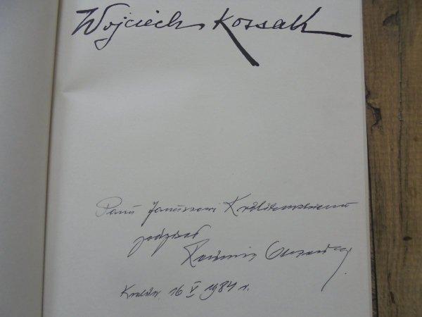 Kazimierz Olszański • Wojciech Kossak [dedykacja autora]