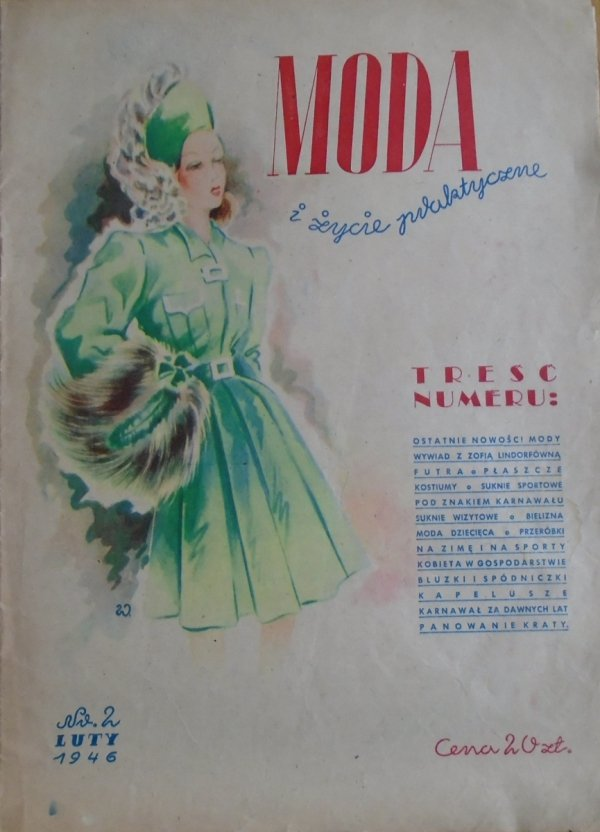 Moda i życie praktyczne numer 2/1946