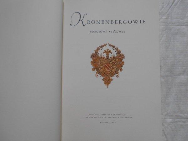 Kronenbergerowie • Pamiątki rodzinne