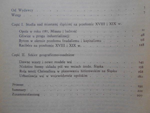 Stefan Golachowski • Studia nad miastami i wsiami śląskimi