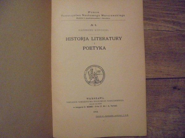 Kazimierz Wóycicki • Historia literatury i poetyka