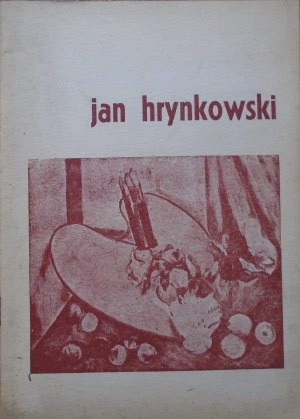 Jan Hrynkowski • Wystawa jubileuszowa. 40 lat pracy twórczej [1960]