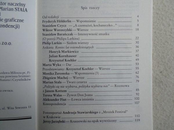 Nagłos nr 3/1991 [Mrożek, Stanisław Czycz, Philip Larkin]