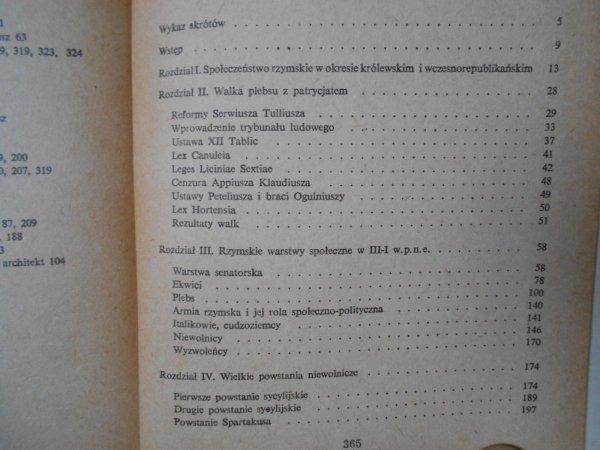 Tadeusz Łoposzko • Historia społeczna republikańskiego Rzymu