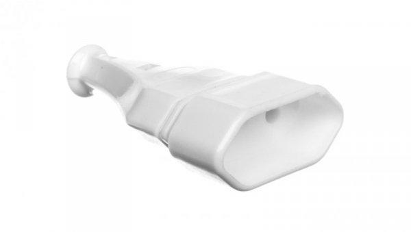 Gniazdo przenośne płaskie b/u EURO 2,5A 250V rozbieralne białe GN-11