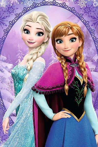 Puzzle Trefl Frozen - Elza i Anna - 54 mini