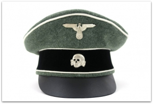 OFICERSKA CZAPKA TYPU CRUSHER WAFFEN-SS PIECHOTA - SUKNO