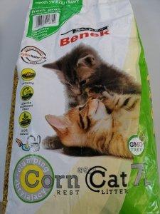 Żwirek dla kotów kukurydziany zbrylający 7L