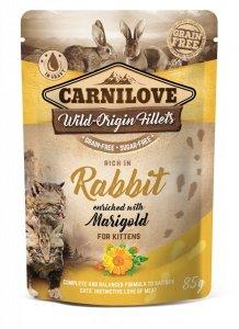 CARNILOVE CAT POUCH RABBIT&MARIGOLD  85g