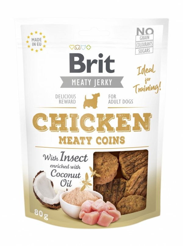 Brit Jerky Snack– Chicken Meaty coins with Insect 80g
