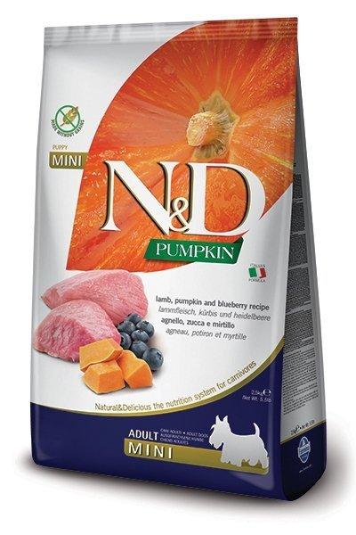 Farmina N&D Pumpkin Lamb &Blueberry Adult Mini 800g