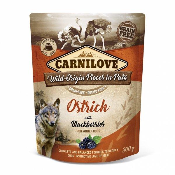 CARNILOVE DOG POUCH OSTRICH&BLACKBERRIES 300g