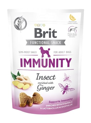 Brit Let's bite func snack Imunity Insect 150g