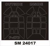Montex SM24017 P-47D RAZORBACK Kinetic 1/24