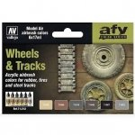 Vallejo 71213 Wheels and Tracks (6x17ml)