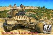 AFV Club 35201 Valentine Mk.III w/Rotatrailer (1:35)
