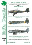Exito ED48004 DECALS Luftwaffe Ground Attackers vol.1 - Ju 87 D-3, Hs 129, Fw 190F-8 1/48