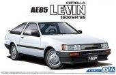 Aoshima 05968 Toyota AE85 Corolla Levin 1500SR '85 1/24