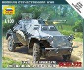 Zvezda 6157 Sd.Kfz.222 Armored Car 1/100
