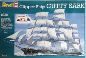 Revell 05401 Clipper Ship Cutty Sark w/colour glue (1:220)