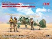 ICM 32043 Gloster Gladiator Mk.I with British Pilots 1/32