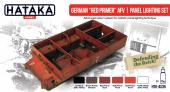 """Hataka HTK-AS35 German """"Red Primer"""" AFV panel lighting set"""