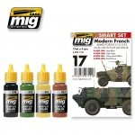 AMMO of Mig Jimenez 7151 Modern French Armed Forces vehicles - Acrylic Smart Set (4x17ml)