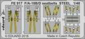 Eduard FE917 F/ A-18B/ D seatbelts STEEL 1/48
