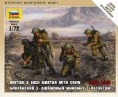Zvezda 6168 British Mortar w/ Crew 1939 1/72