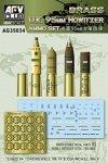 AFV Club AG35034 U.K 95 mm Howitzer Ammo Set (brass) 1:35