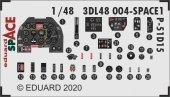 Eduard 3DL48004 P-51D-15+ SPACE 3D for Eduard 1/48
