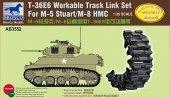 Bronco AB3552 T-36E6 Workable Track Set For M-5/M-8 Stuart 1/35
