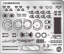 NuNu NE24008 BMW M3 E30 Detail Up Parts 1/24